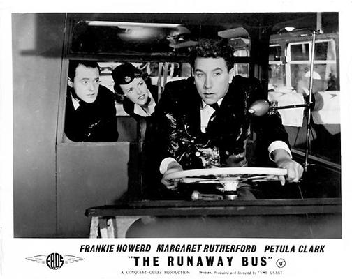 The Runaway Bus Lobby Card with Frankie Howerd, Petula Clark, and Terence Alexander