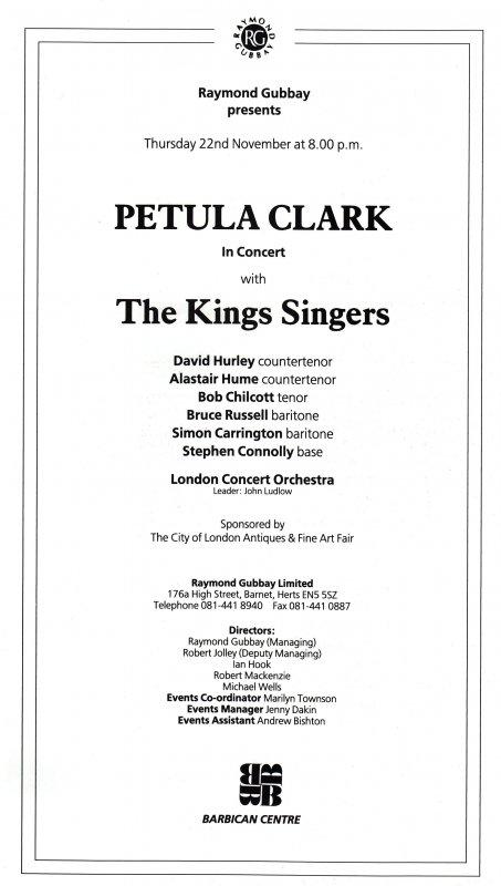 Petula Clark - Live in Concert 1990s