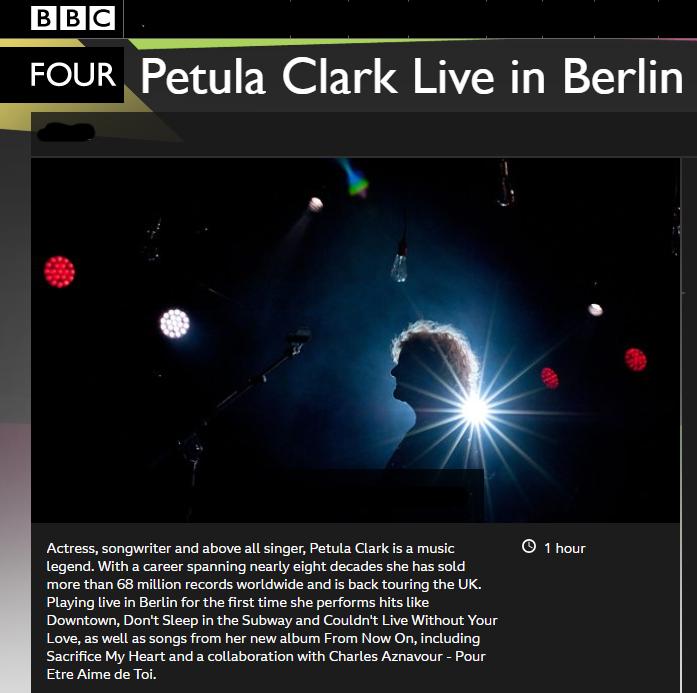 Petula Clark Live In Concert The Twenty Tens